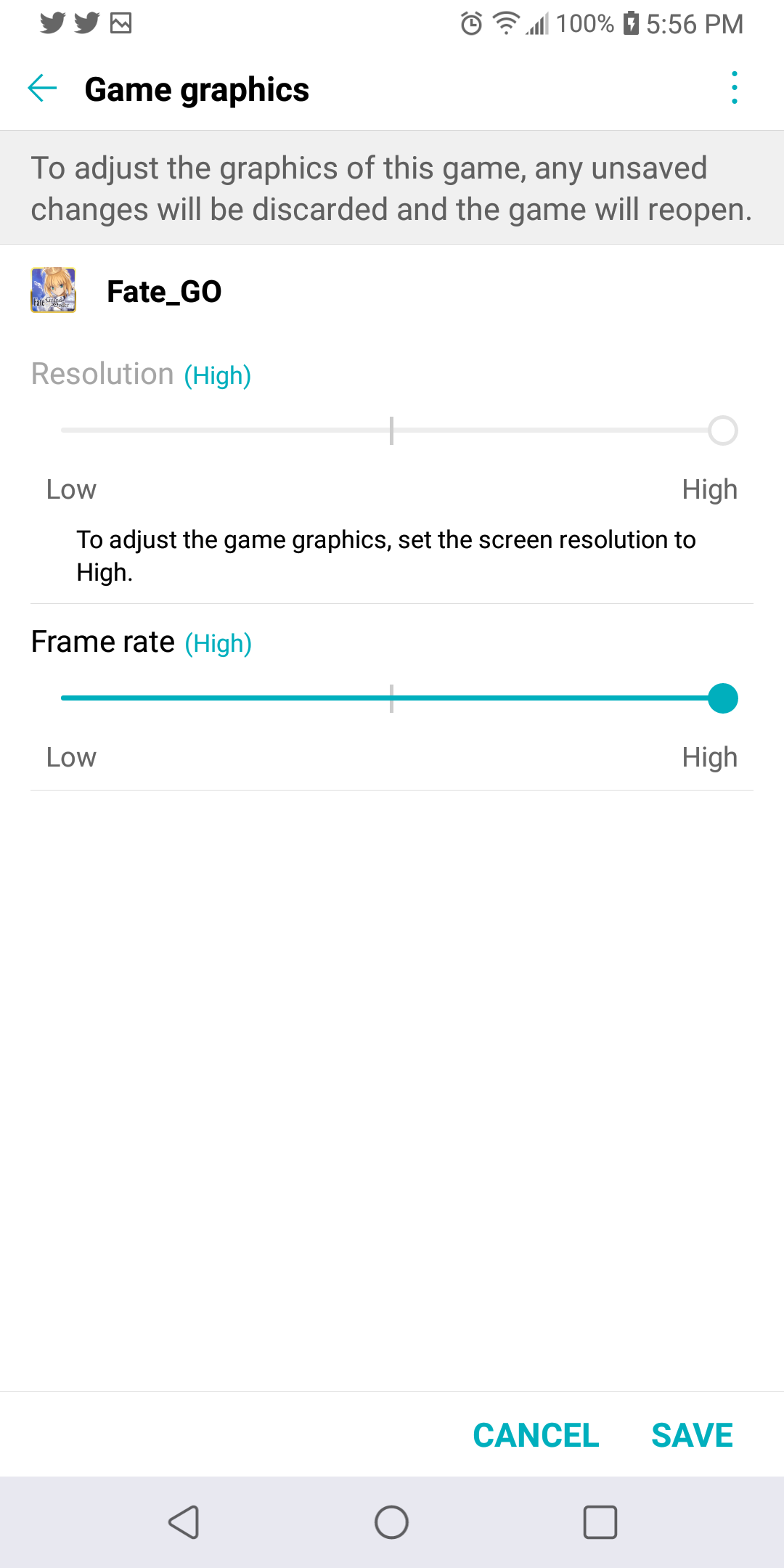 Lg stylo 4 won't let me change game graphic settings — LG